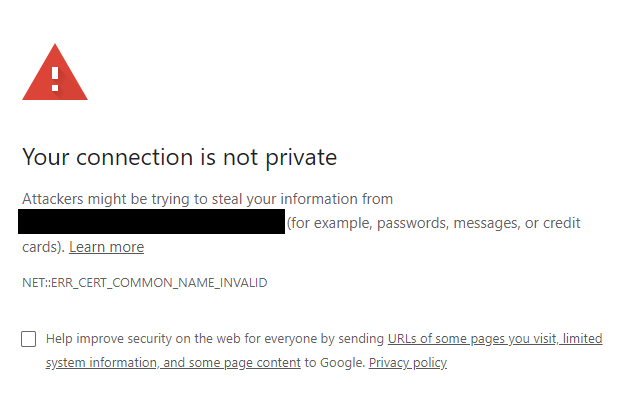 "Chromium-based Browsers: Bypass ""your connection is not private"" even when button not shown"